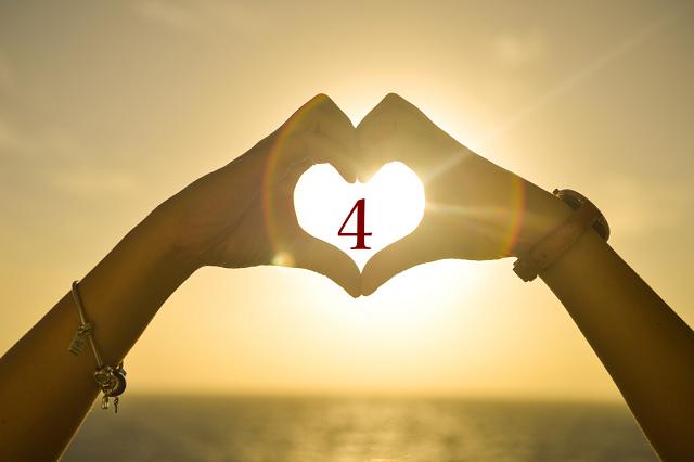 ハート数4(ソウルナンバー4)の意味は安定と現実性【数秘術】