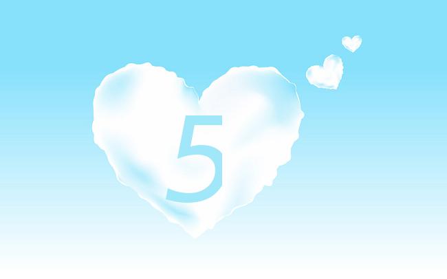 ハート数5(ソウルナンバー5)の意味は自由と変化と冒険【数秘術】